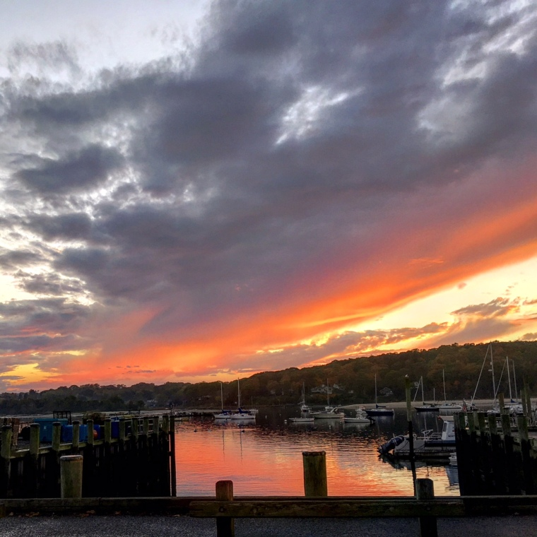 sunset, boats, sky, harbor, northport, northport harbor