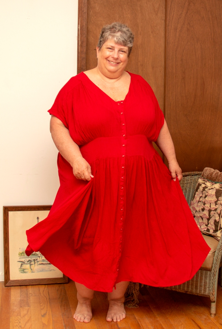 red asos dress resized